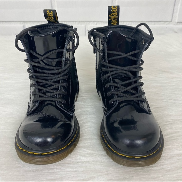 Dr.Martens patent Leather Lamper Boots